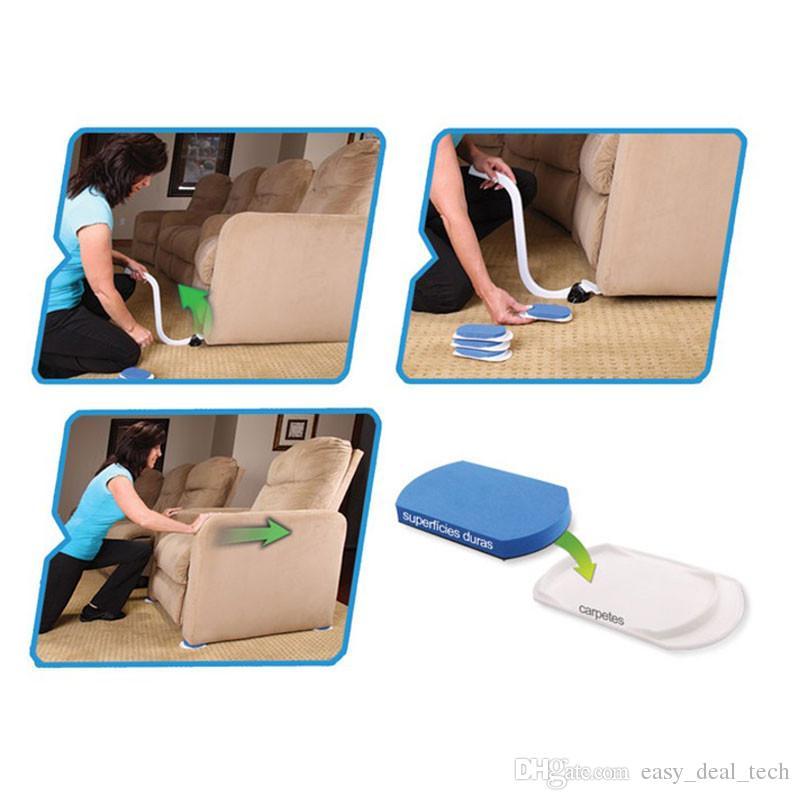 EZ trasporta mobili in acciaio Strumenti di movimentazione Mobili riutilizzabili Sistema di movimentazione Superfici in moquette Kit di scivolamento Pacchetto di vendita al dettaglio