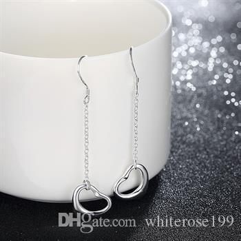 Partihandel - Lägsta pris Julklapp 925 Sterling Silver Fashion Earringy E086