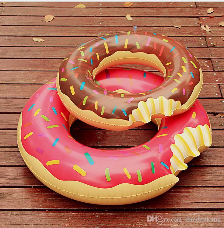 outdoor water sports inflatable floats tubes kids Donut Swimming ring summer swim pool rings for baby water floating riding toy