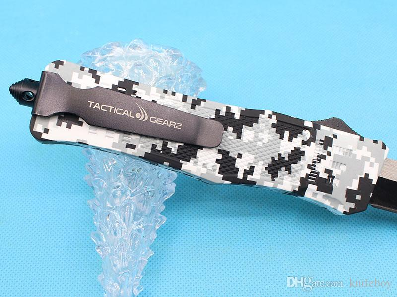 Special Offer Large Size 616 Winter Digi Auto Tactial Knife 440C 58HRC Single Edge Tanto Titanium Blade Outdoor Survival Tactical Gearz