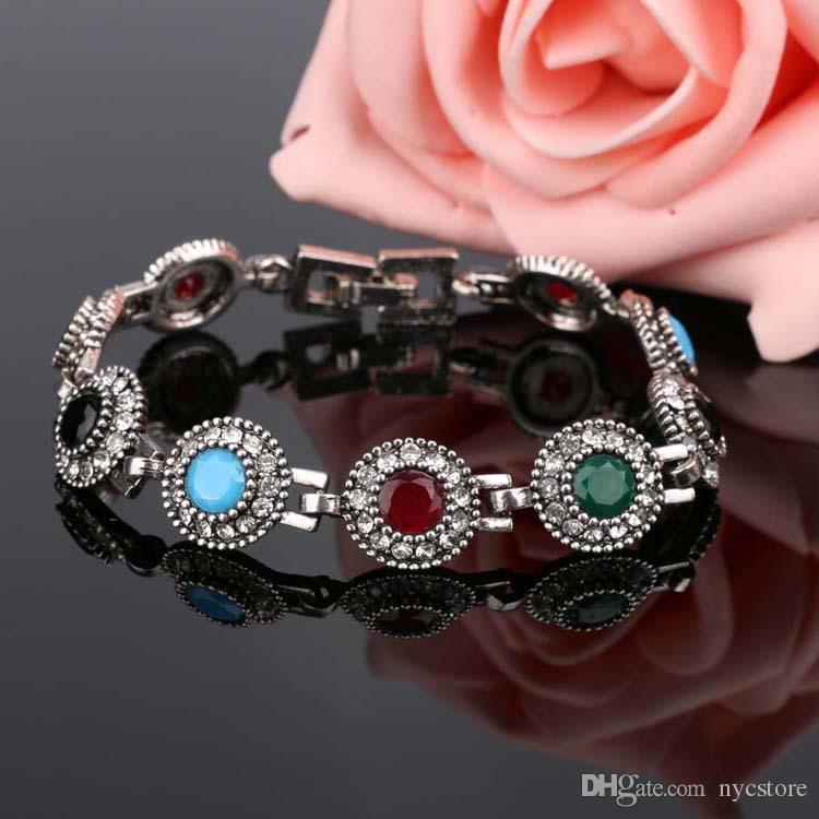 Vintage Resin Bangles DIY Cuff Bracelets Hand Accessories Turkish Wide Bangle For Women Sculpture Retro Wrist