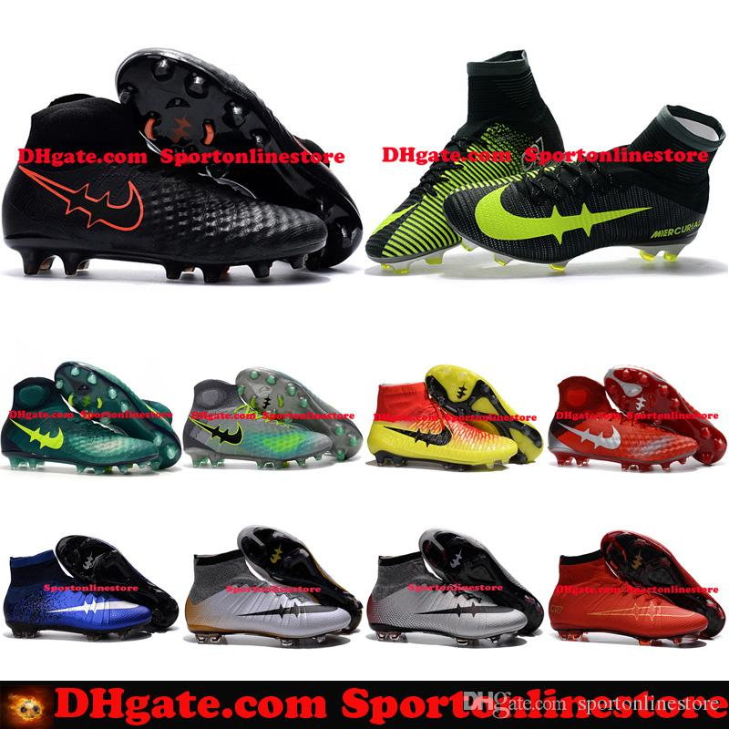 efe903282 High Tops Football Boots Magista Obra 2 Mens Soccer Cleats Mercurial CR7 Superfly  FG Soccer Boots Cristiano Ronaldo Soccer Shoes For Sale Mens Soccer Cleats  ...