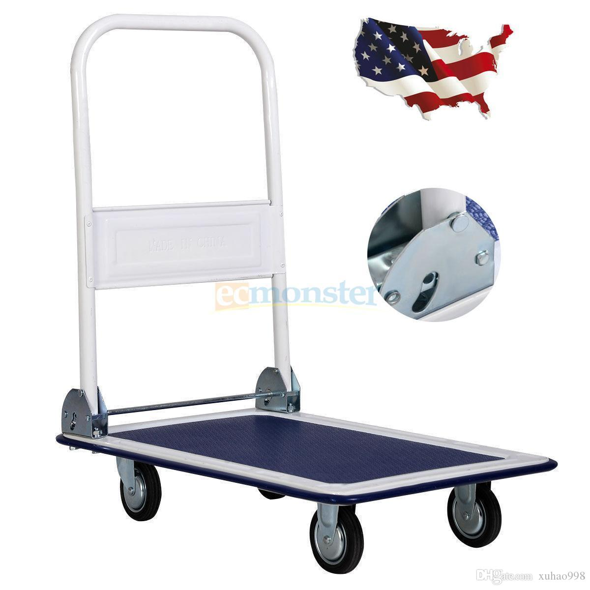 e956d87b7e7b 330lbs Platform Cart Dolly Folding Foldable Push Hand Truck Moving  Warehouse 3.0 average based on 2 product ratings 5 1 4 0 3 0 2 0 1 1 Woul