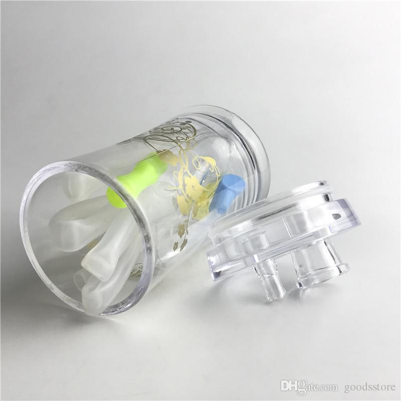 Nouveau 4.5 Pouces En Plastique Brûleur à Huile Bong Pipes À Eau avec 10mm Mâle Épais Pyrex En Verre Brûleur à Huile Pipe Tube En Silicone pour Fumer