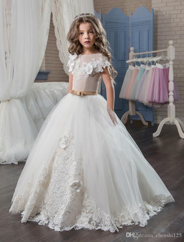 Elegant First Communion Dresses For Girls 2017 Applique Princess ...