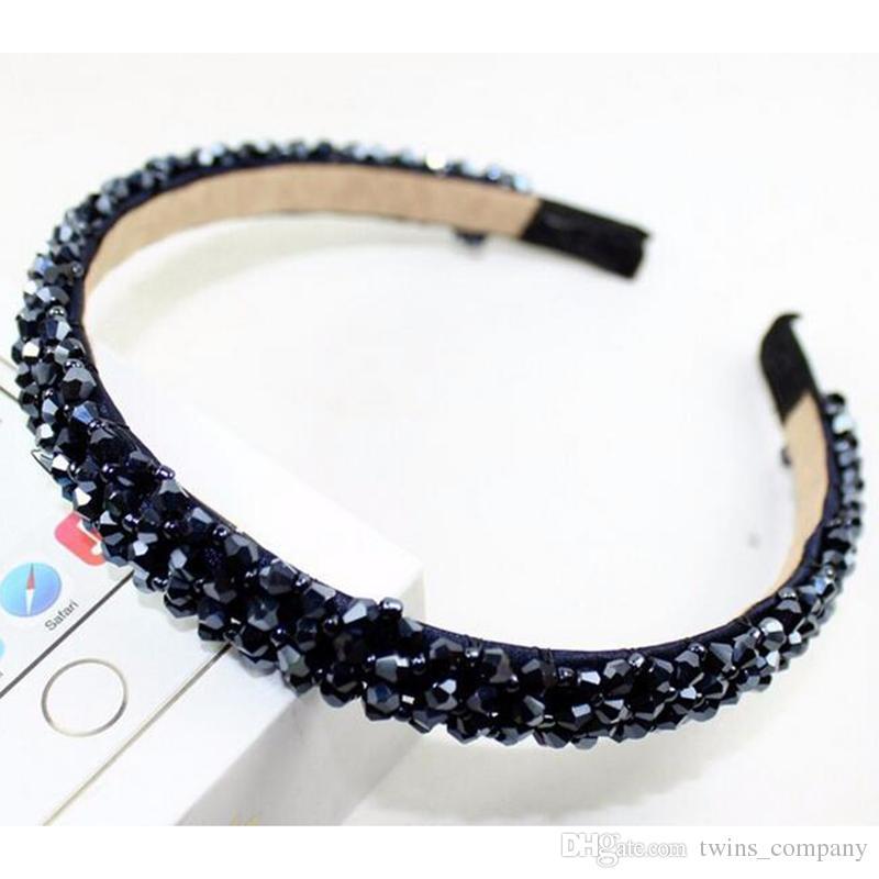 Yeni Renkli Kristal Cam Kafa Moda El Yapımı Saç Bandı Kadın Kızlar Saç Aksesuarları Hairband Takı