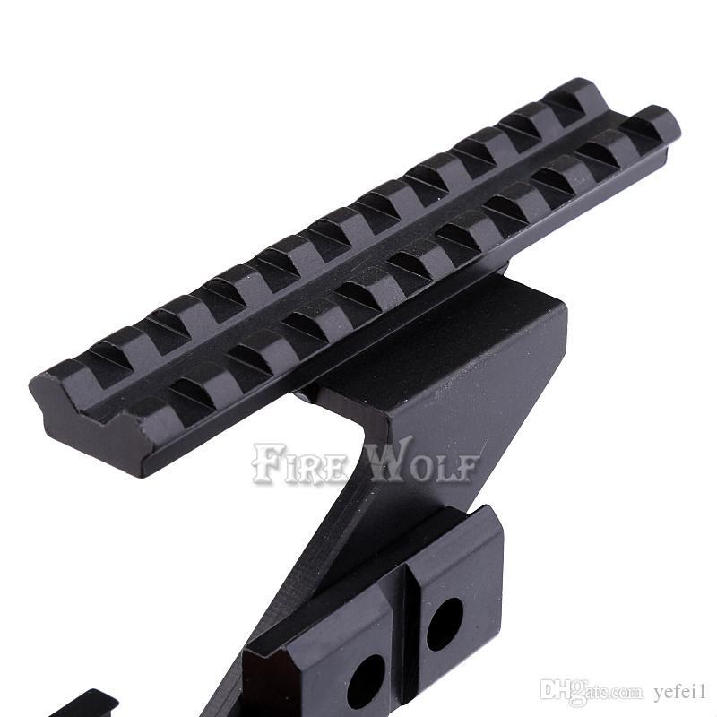 Universel Tactique Pistolet Scope Mount Weaver Picatinny Rail Pistolet Rail pour ajouter Scope Sight Lampe De Poche Laser