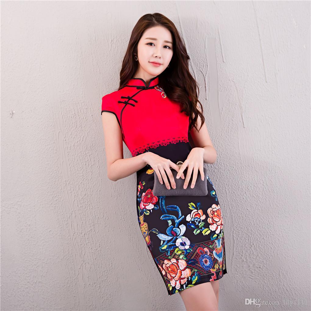 51319dc2b00 Shanghai Story Short Qipao Cheongsam National Trend Chinese Style Dresses  Faux Silk Qipao Dress Chinese Dress Chinese Style Dress Traditional Chinese  Dress ...