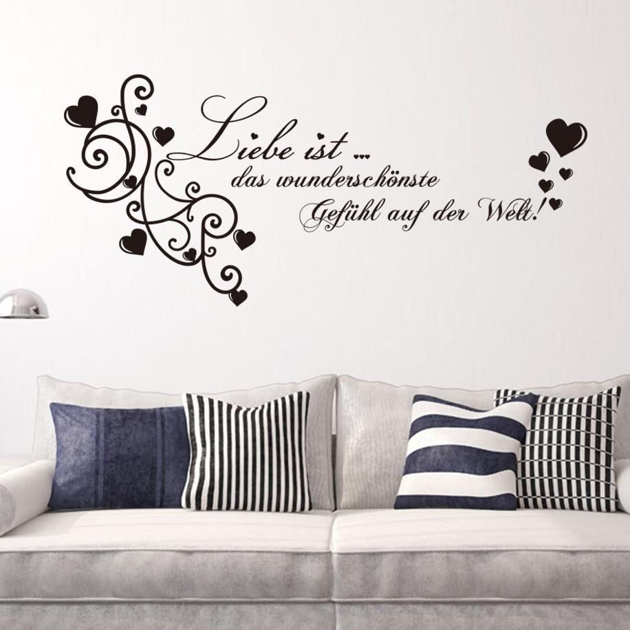 * Hot German Liebe Love Quotes Wall Stickers Decorations Vinyl Pvc Living  Room Bedroom For Kids Room Home Decor Wedding Gift Decals Decals For  Bedroom Walls ... Part 80