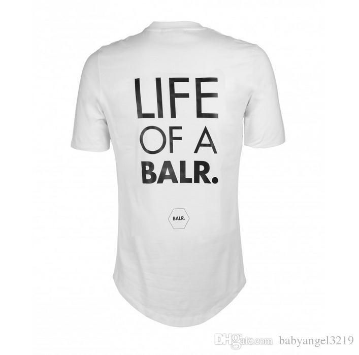 T-Shirts der freien Verschiffen-Männer Balr-Straßenflut-Marke Kurzarm-Rundhalsausschnitt lose kurzärmelige Baumwolle Männer Persönlichkeit Männer T-Shirt