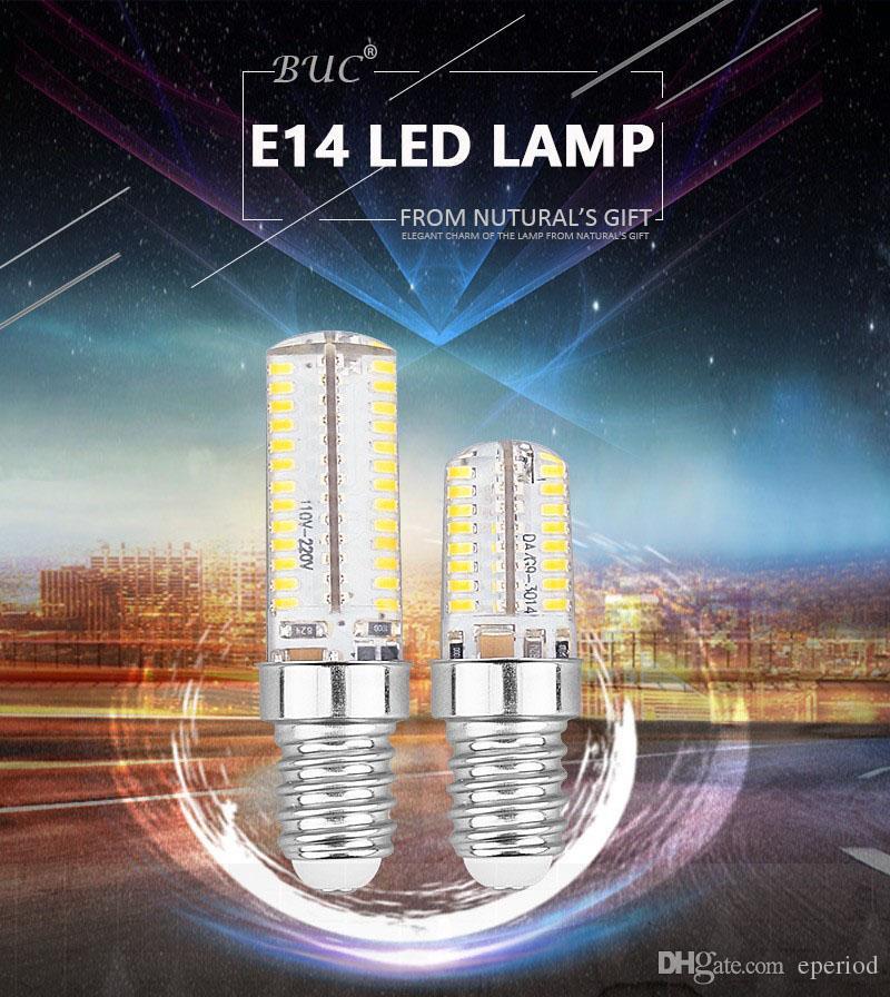 E14 Led bulb SMD3014 LED corn light AC220-240V White/warm white Energy-saving high brightness Crystal silicone dimmable Bulb Lamps