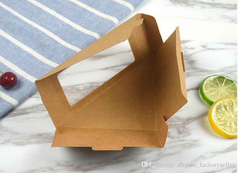Contenitore asportabile amichevole amichevole / del contenitore di dessert della torta di Eco del contenitore di panino della carta kraft di Eco amichevole pieghevole
