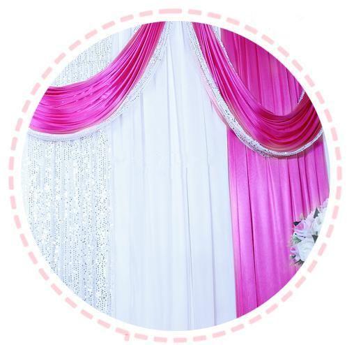 3m*4m 3m*6m 4m*8m ice silk Wedding Backdrop Swag Party Curtain with silver Sequin Fabric Drape Luxury Wedding Props Satin Drape curtain