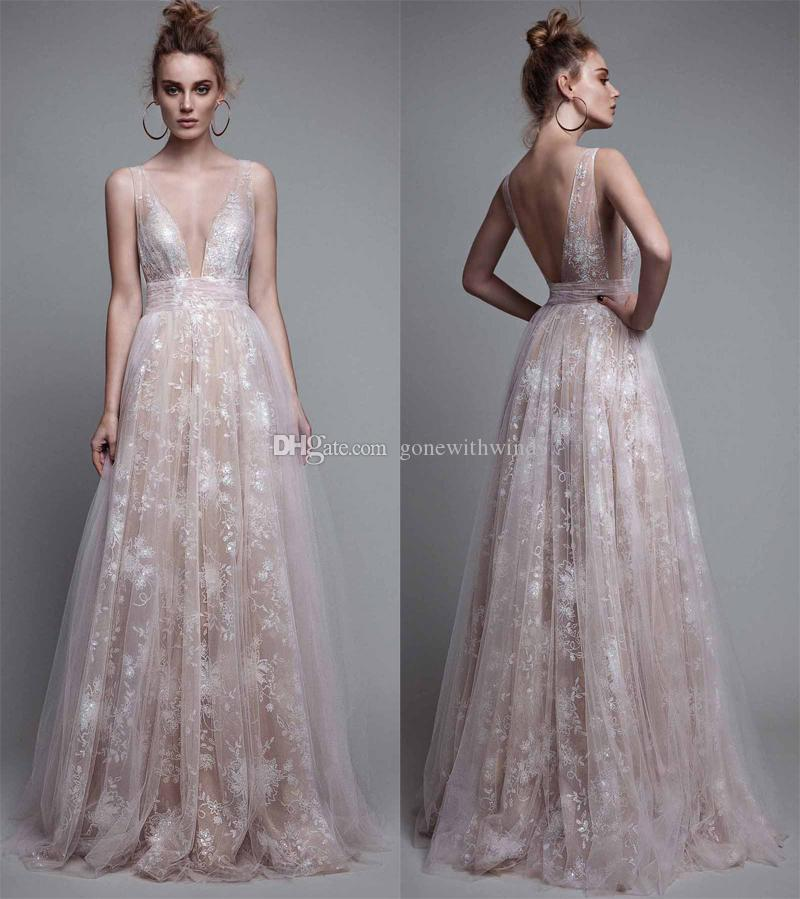 Champagne Formal Prom Evening Dresses 2017 Berta Bridal Embroidery ...