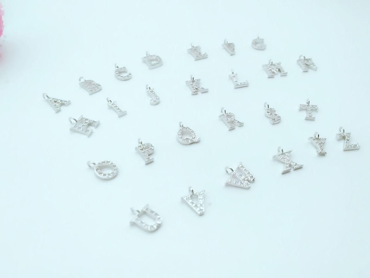 26 шт. A-z элегантный Кристалл мозаика Циркон тонкий небольшой кулон 26 букв алфавит ювелирных изделий
