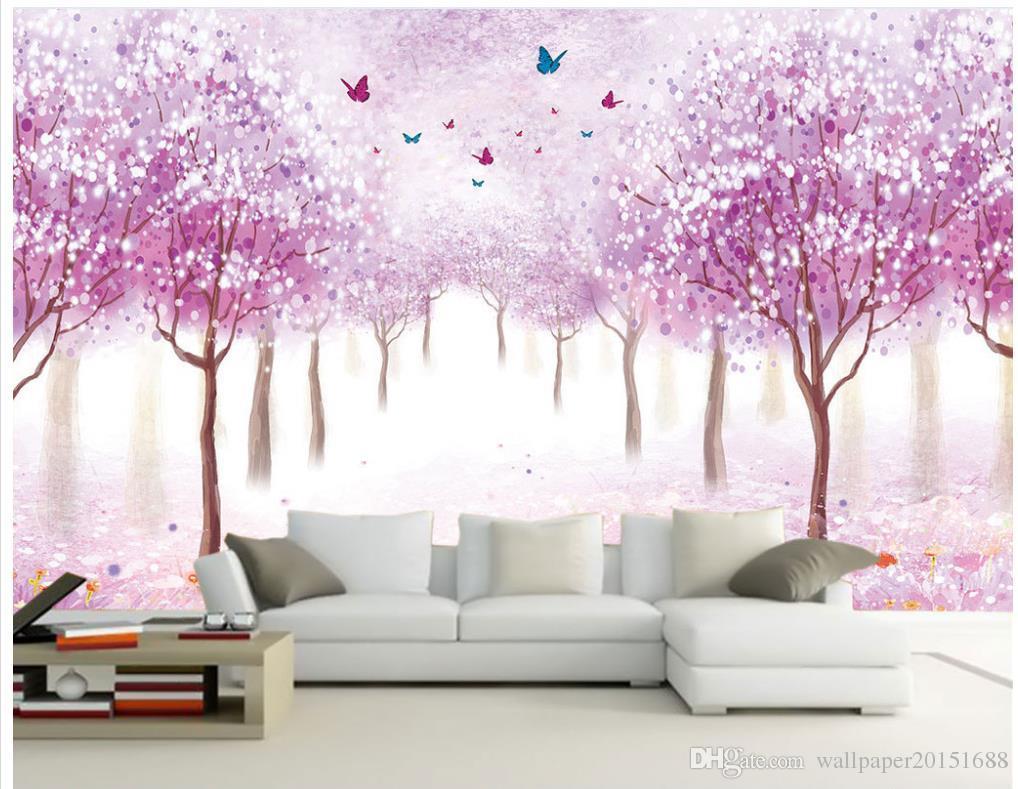 3d papier peint pour la chambre papier peint personnalisé pour les murs Fleurs romantique fond d'écran nostalgique 3d peintures murales papier peint pour le salon