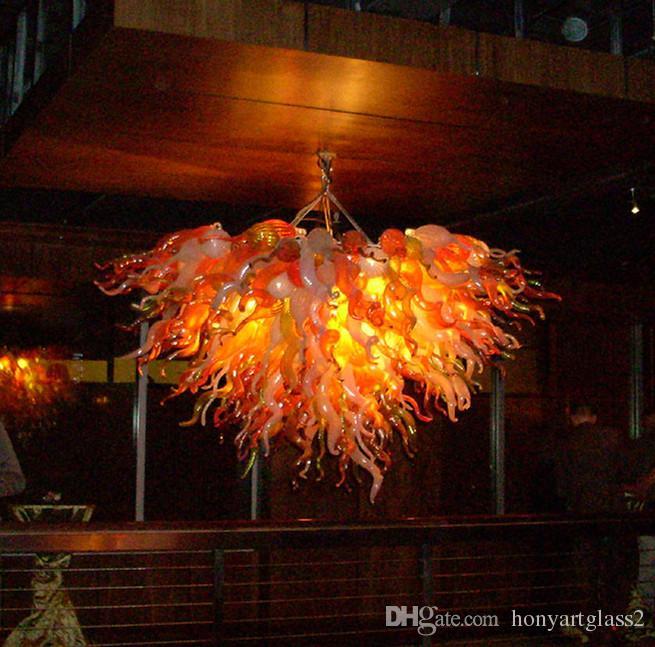 100% Mouth Blown Borosilicate Living Room Art Decor Vintage Pendant Light Coffee House Hand Blown Glass Chandelier Lighting