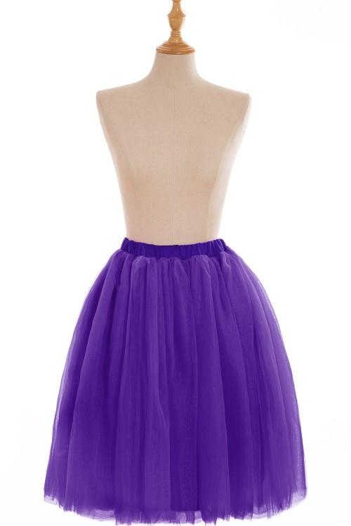 Full Tutu Tulle Skirts 2018 Short Prom Party Dresses Ball Gowns 5 Layers Underskirt Crinolines Cheap with CPA583