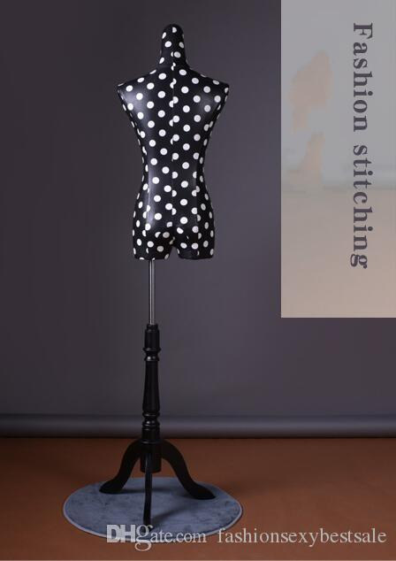 Modello di tiro delle donne mezzo-lunghezza sparare modello cremagliera del tessuto dell'unità di elaborazione del displa cosmetology-mannequin i vestiti B593