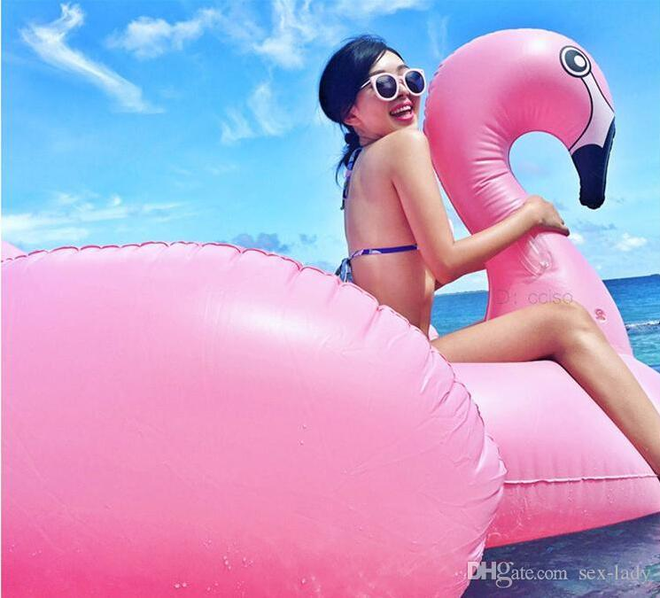 NewestHot Inflatable Swan Unicorn Flamingo Floating Bed Raft Air Mattress Summer 190 cm PVC Adults Pool Float Toy Floating Row