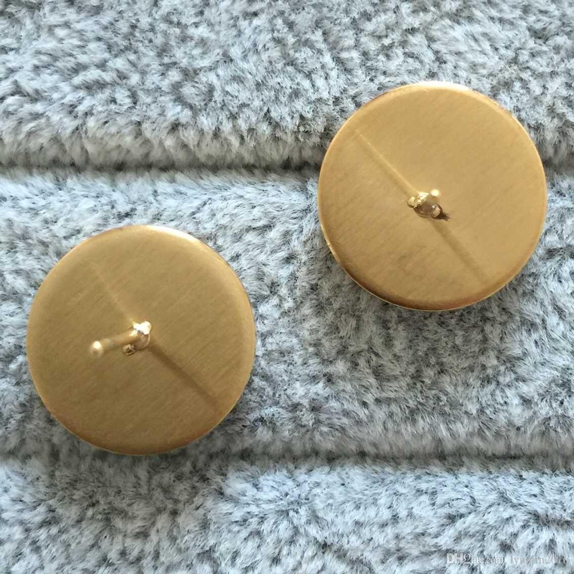 Argento sterling 925 sempre rosa chiaro CZ cerchio rotondo orecchini le donne Gioielli di moda