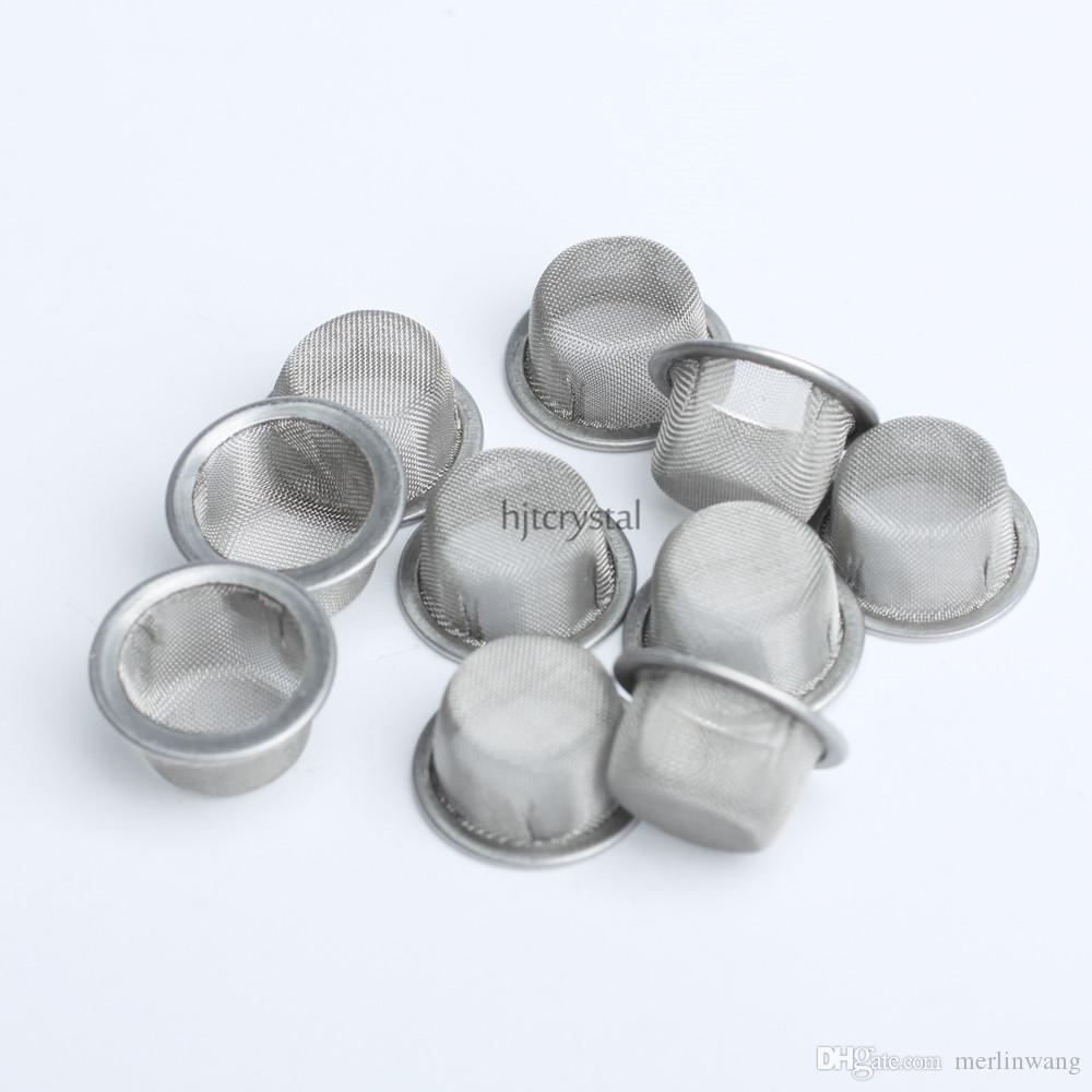 12.7mm Diamètre Rond 7mm Hauteur Gros Tabagisme Écrans Bol En Forme De Quartz Cristal De Fumer Tuyau Tabac En Métal Filtres Accessoires De Fumeurs
