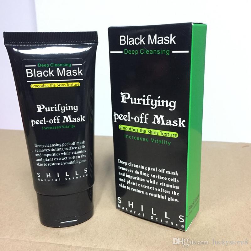 SHILLS Derin Temizleyici Siyah Maske Gözenek Temizleyici 50 ml Arındırıcı Peel-off Maske Siyah Nokta Yüz Maskesi soyulabilir