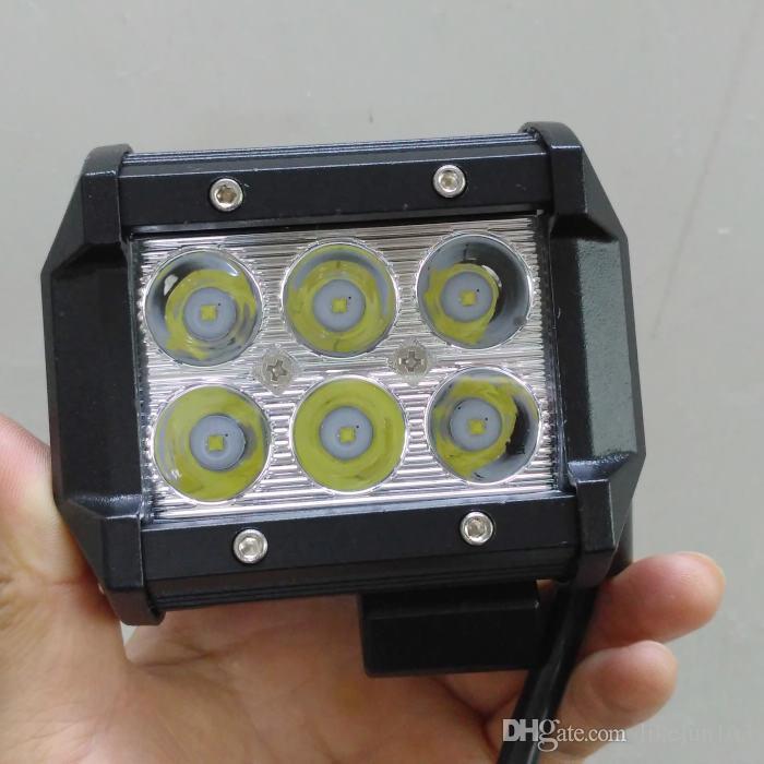 High quality 18w led light bars for 4x4 4wd trucks ATV SUV off road universal led work lights