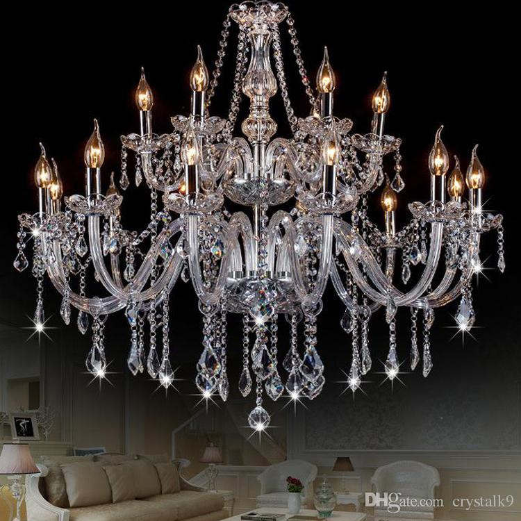 Modern Chandelier Crystal Lighting Cristal Lamp Chandeliers Hanging Lights Clear Glass Led Light For Home Restaurant Stained
