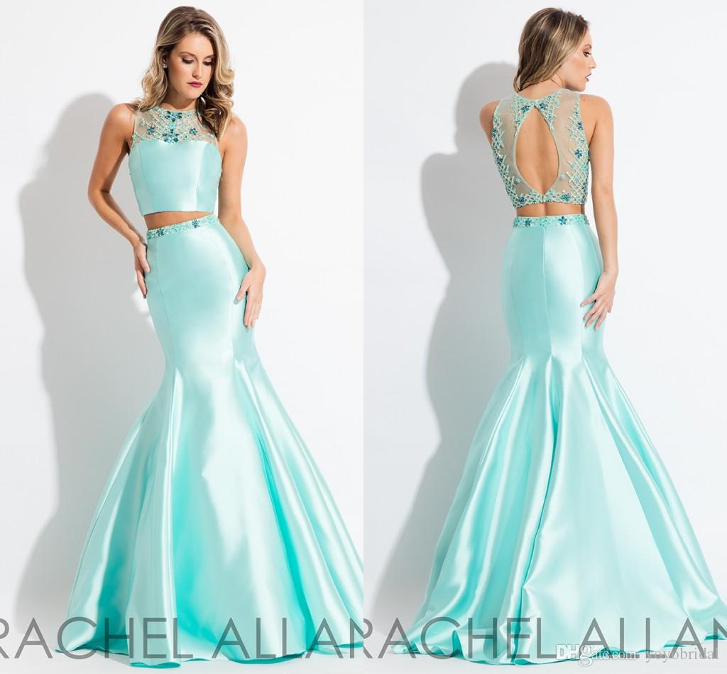 Aqua Mermaid Prom Dresses