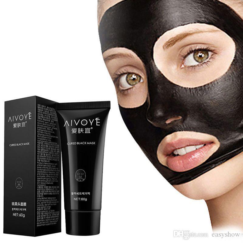 2017 ORIGINAL AFY aspiration masque noir nez Dissolvant d'acné nettoyage en profondeur masque facial soin du visage nature pore Cleaner masque de boue noire 60g gratuit DHL