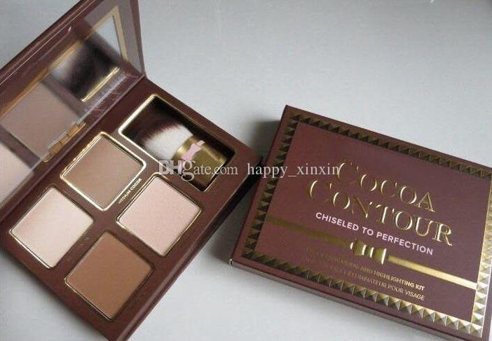 ePacket! HOT new makeup Cocoa Contour Chiseled to Perfection Face Contouring& Highlighting Kit Bronzers & Highlighters