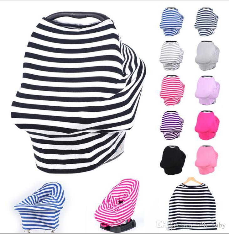 Baby Car Seat Cover Canopy Multi-Use Nursing Cover Stretchy Infinity Scarf Breastfeeding Cart strollers Canopy cover KKA2500
