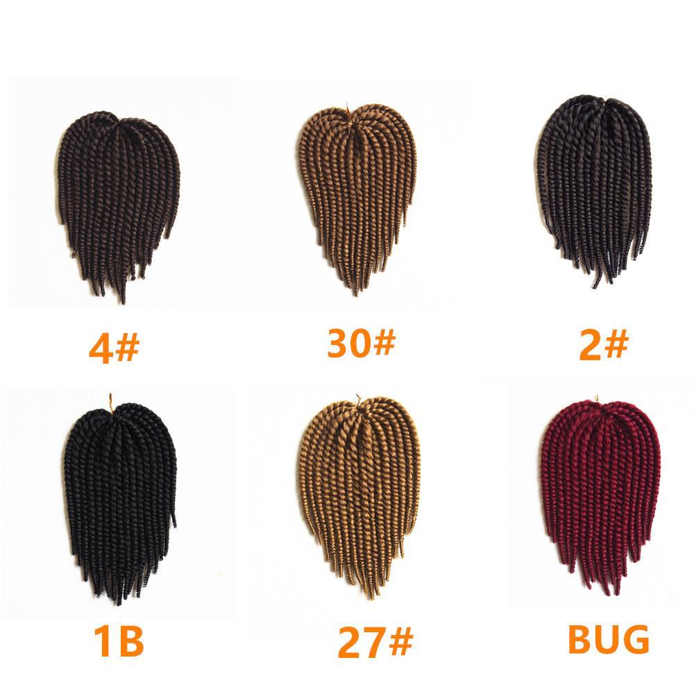 Sénégalais Twist Crochet Tressage Synthétique Cheveux 14 Pouce Havana Mambo Crochet Twist Braids Extensions De Cheveux