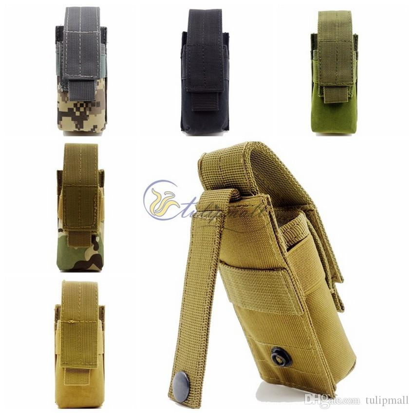 Survival Gear Tactical Pouches Molle Pouches M5 Flashlight Pouch , Outdoor Camping Portable Tools Knife OC Spray Flashlight Pouch Holster