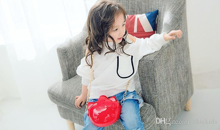 DHL ücretsiz nakliye çocuk Moda Jöle Omuz Çantaları Çocuklar Küçük Sevimli Tasarım Cüzdan Çocuklar Güzel Messenger Çanta Okul Öncesi kızlar çanta CK139