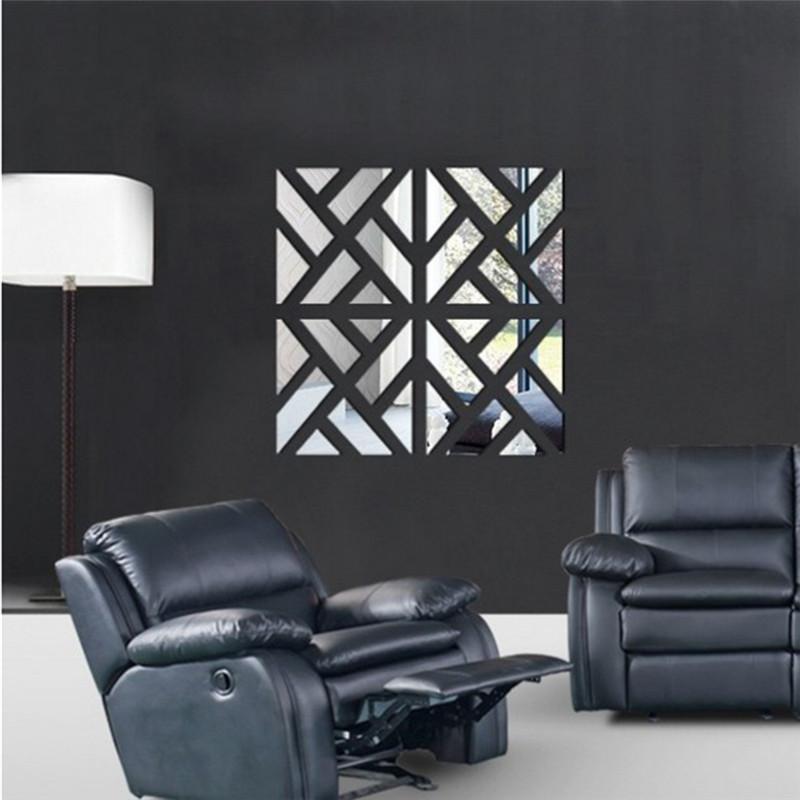 2A + 2B / set 승진 새로운 3D 벽 스티커 진짜 뜨거운 판매 살아있는 가정 장식 현대 정물 집 DIY 벽 스티커 아크릴 거울