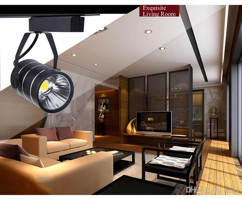 En gros CREE cob led piste s'allume projecteurs 9W 12W magasin de vêtements centre commercial d'éclairage blanc froid chaud + CE UL SAA