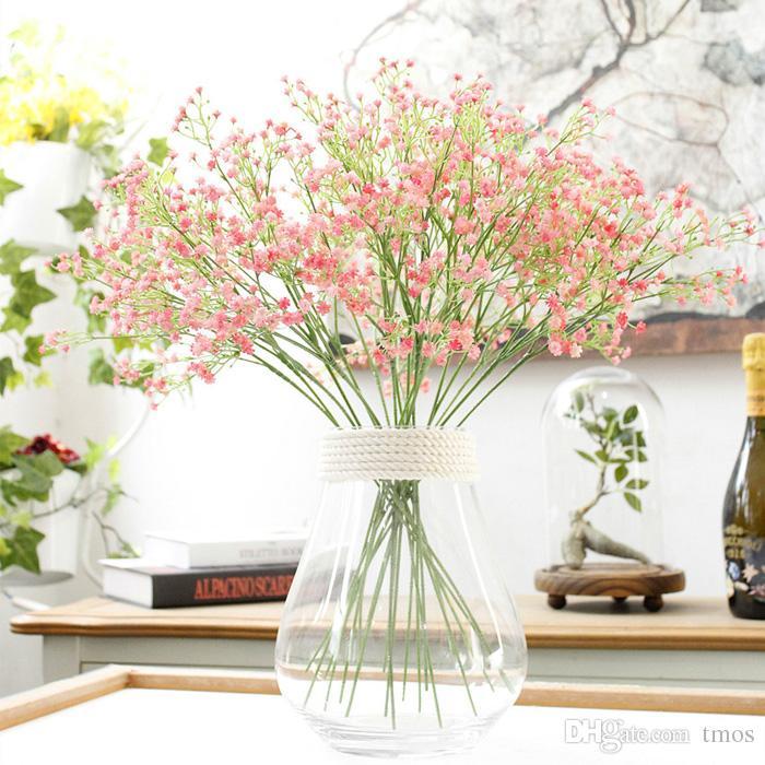 Respiração suave silicone Flores artificiais Fake muito Gypsophila bebê planta da flor Início Wedding Decoração Atacado