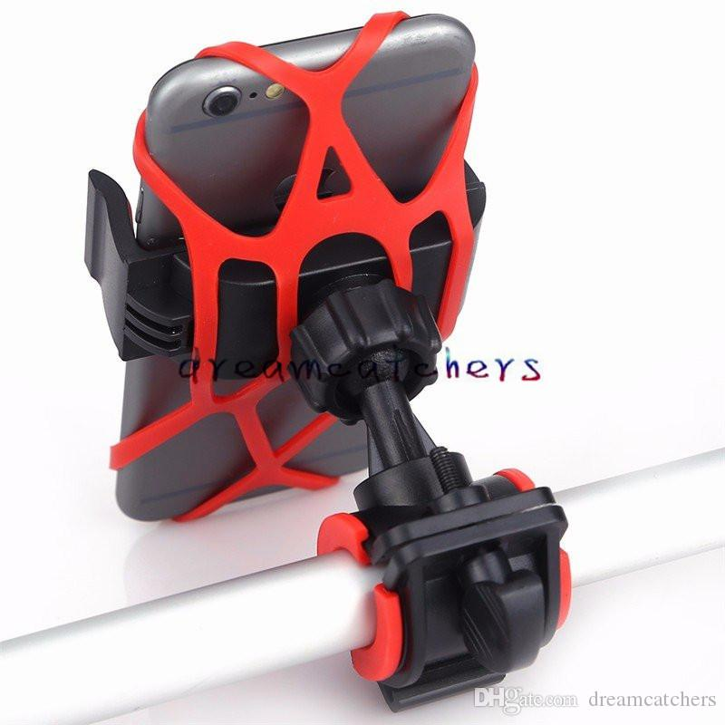 Universal Bike Bicycle Stand Holder Spider Web Phone Handlebar Clip Stand Mount Bracket Flexible 360 Degree for Iphone 7 Smart phone GPS