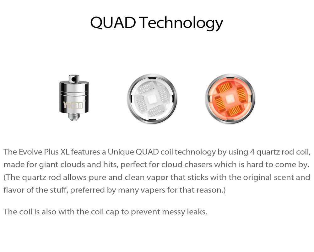 Autentico Yocan Evolve Plus XL Cera QUAD Bobina Quad Quatz Bobine con Cappuccio a spirale Evolve Plus XL Kit Penna Dab