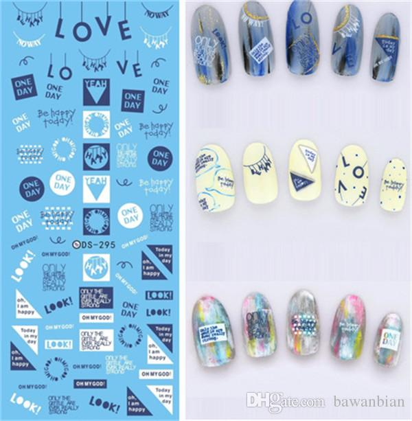 Cheap DIY Water Transfer Nails Art Sticker Colorful Purple Fantacy Flowers Nail Stickers Wraps Foil Sticker manicure With