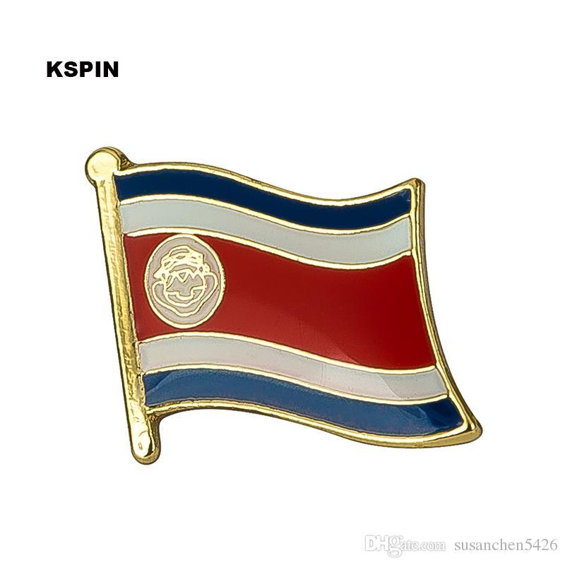 Kostenloser Versand Kolumbien Metallflagge Badge Flag Pin KS-0066