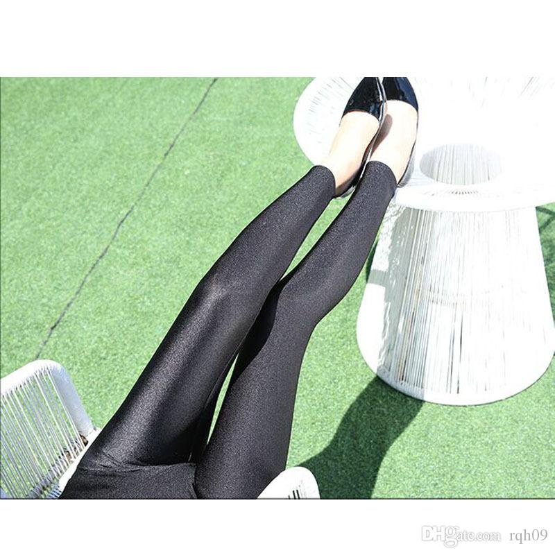 new fashion Europe new winter women's high waisted Leggings with shiny cashmere thickened nine pants 200 pounds to wear jeans
