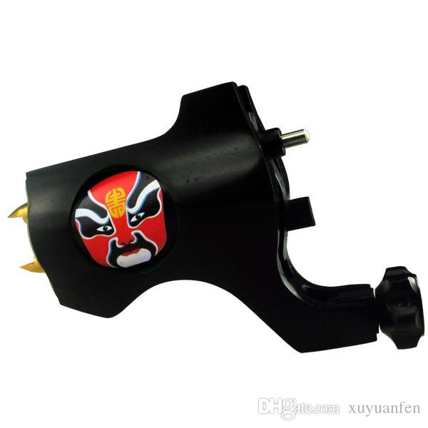 Tattoo Trends Bishop Style facial masks Red Rotary Tattoo Machine Silver Liner Shader Beijing Opera Facial Masks tattoo gun