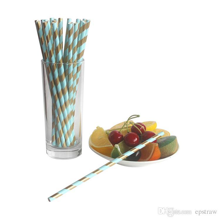 Paillettes décoratives en papier jetables décoratives multicolores assorties rose clair fuchsia métallisé à rayures dorées