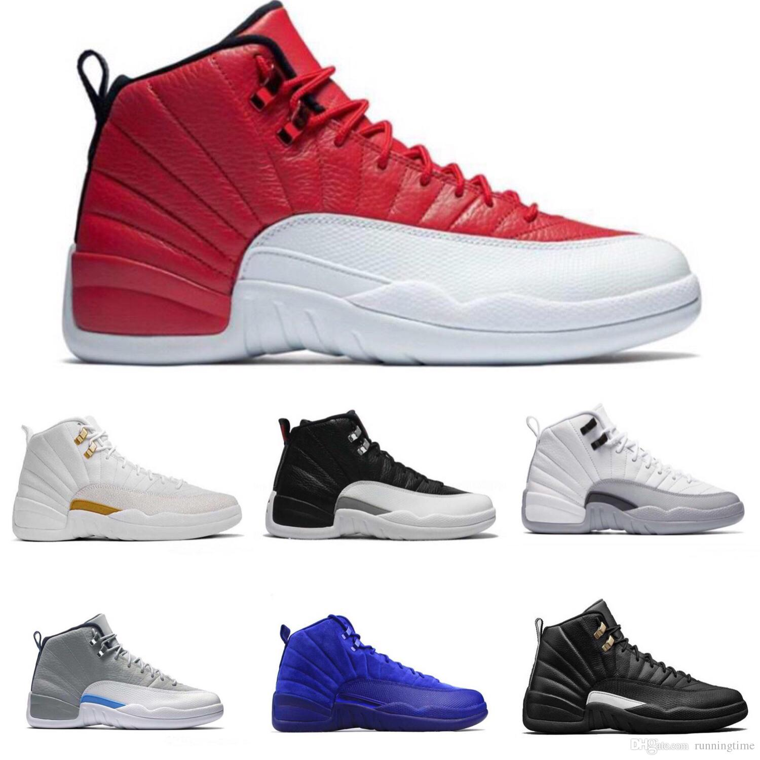 2021240d0706 High Quality 12 12s OVO White Gym Red Dark Grey Basketball Shoes Men Women Taxi  Blue Suede Flu Game CNY Sneakers Basketball Shoes For Sale Basketball Shoes  ...