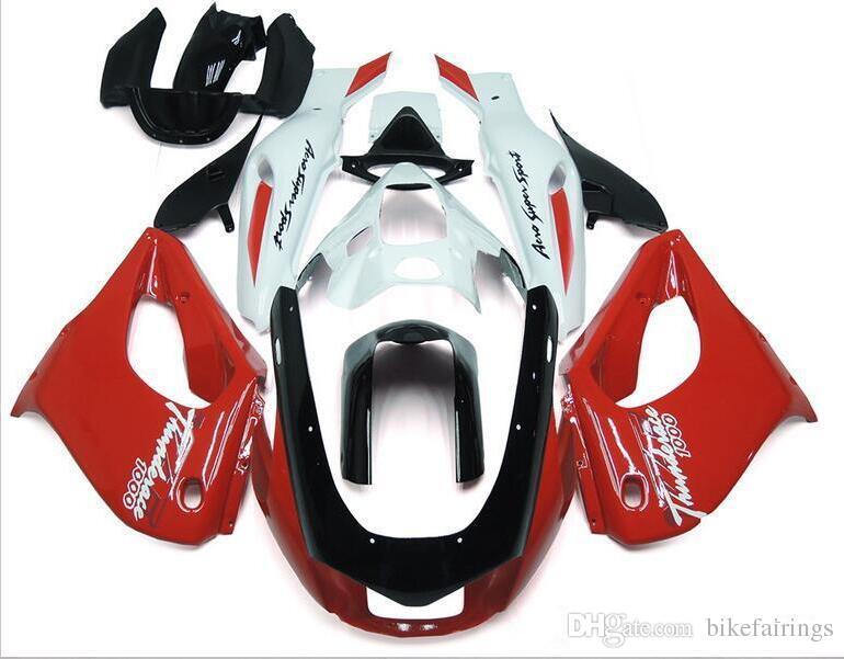 Trois beau cadeau gratuit et nouvelles plaques de carénage en ABS de haute qualité pour YAMAHA Thunderace YZF1000R 1996-2007 bon blanc rouge vs noir