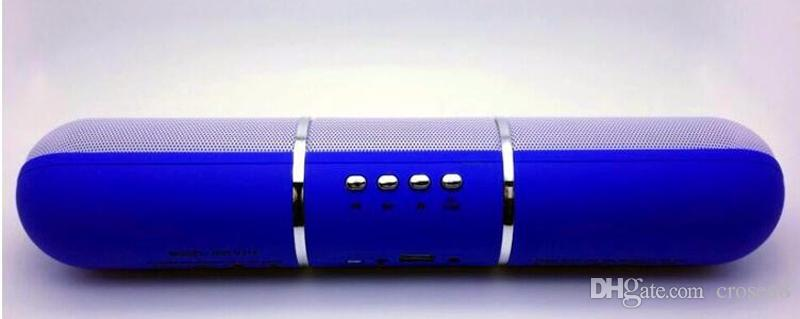 Colorful JHW-V318 Pulse Pills Led Flash Lighting Portable Wireless Bluetooth Speaker Bulit-in Mic Handsfree Speakers Support FM