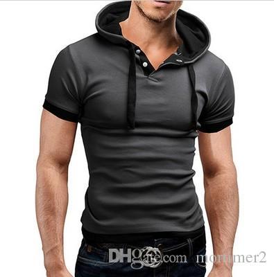 2017 camisa de polo para hombre de manga corta poloshirt sólido hombres polo homme delgado para hombre ropa camisas con capucha camisa polo XXXL